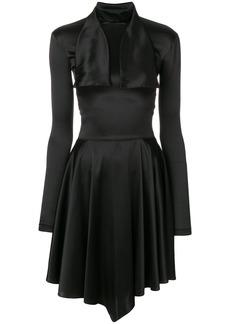 Nina Ricci draped scarf neck dress - Black