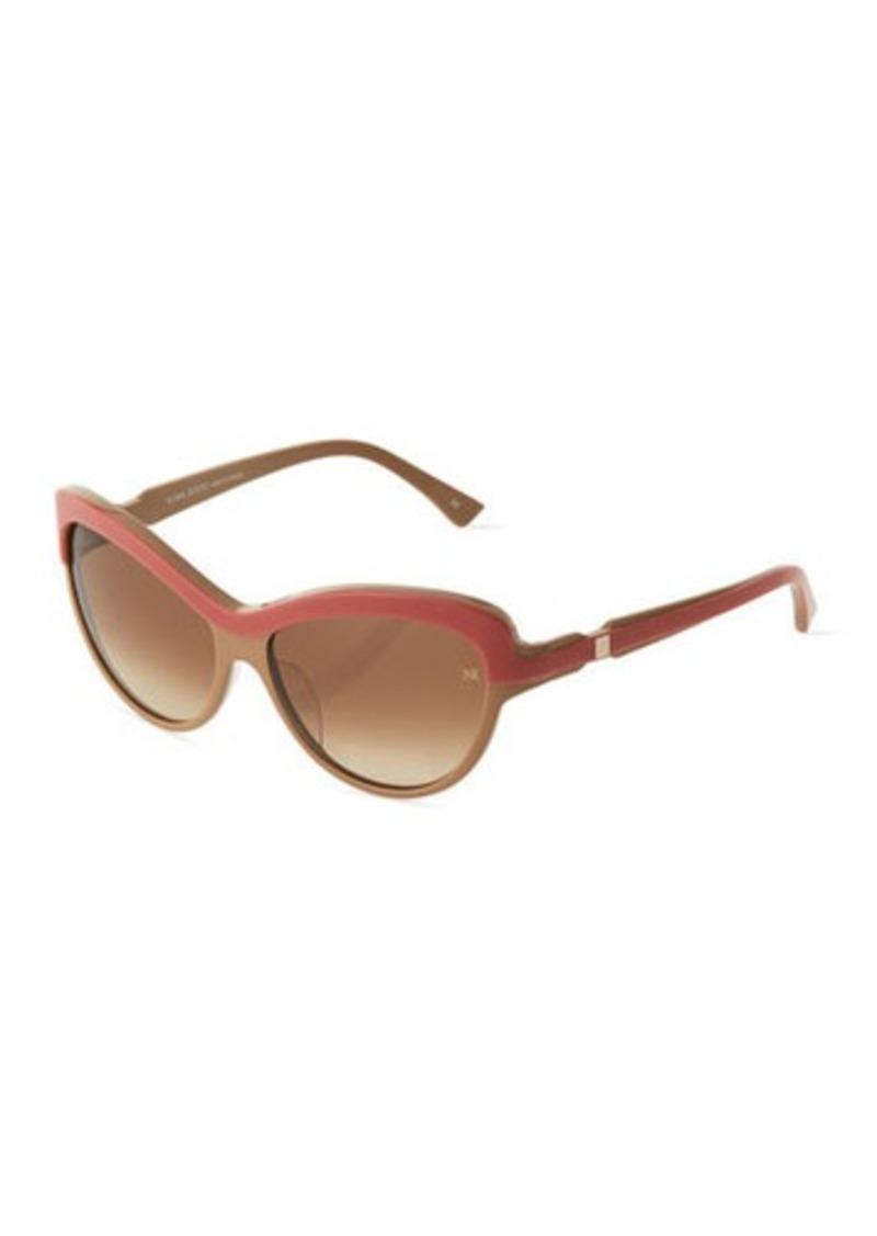 Nina Ricci Gradient Acetate Cat-Eye Sunglasses