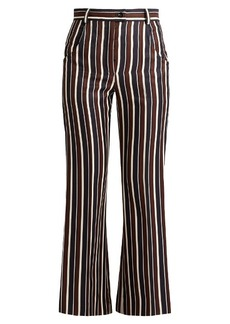 Nina Ricci High-rise striped wool and silk-blend trousers