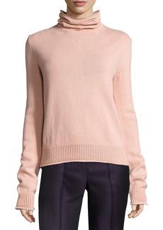 Nina Ricci Knit Open-Back Turtleneck Sweater