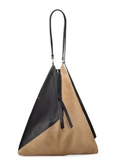 Nina Ricci Large Patchwork Leather & Suede Shoulder Bag