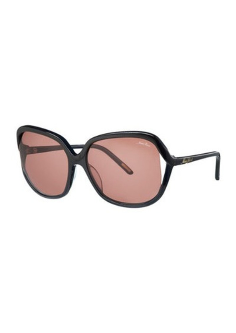 Nina Ricci Oversized Square Open-Temple Acetate Sunglasses
