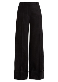 Nina Ricci Pinstriped wide-leg stretch-wool trousers