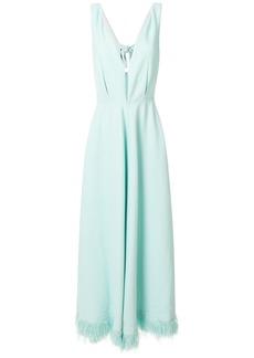 Nina Ricci plunging V-neck dress - Green