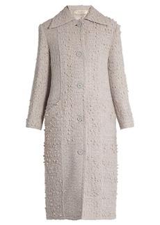 Nina Ricci Point-collar wool-blend tweed coat