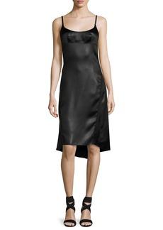 Nina Ricci Satin Spaghetti-Strap High-Low Dress