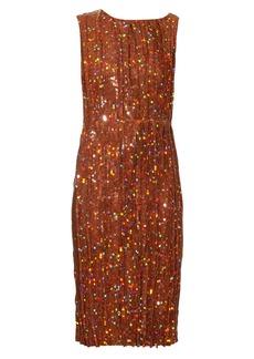 Nina Ricci Sequin-embellished pleated dress