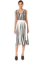 Nina Ricci Sleeveless Striped Knit Dress