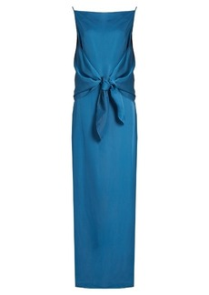 Nina Ricci Tie-front crepe gown