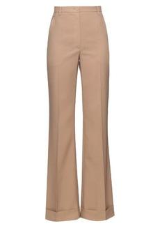 Nina Ricci Wide-leg turn-up wool trousers