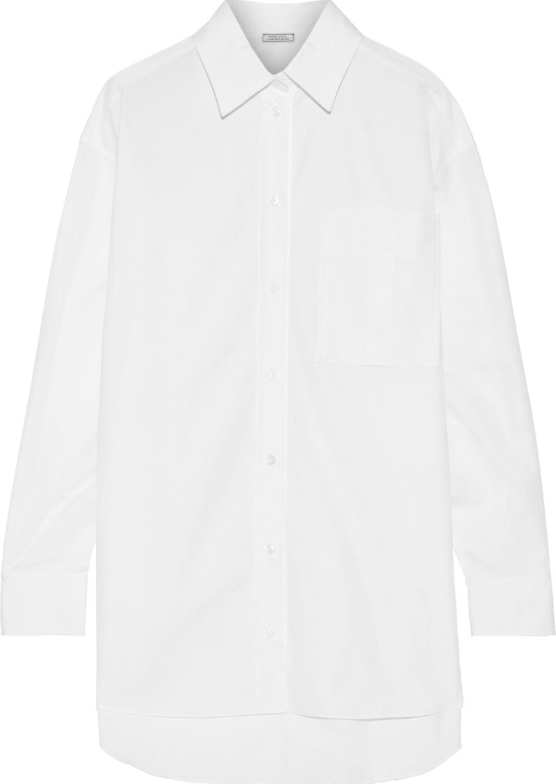 Nina Ricci Woman Cotton-poplin Shirt White