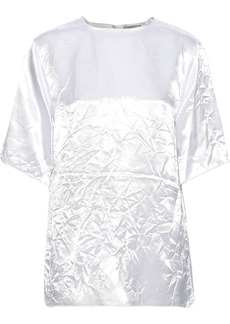 Nina Ricci Woman Crinkled Satin-crepe Top White