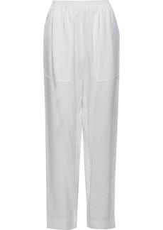 Nina Ricci Woman Crinkled-shell Tapered Pants White