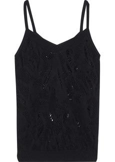 Nina Ricci Woman Distressed Cotton Camisole Black