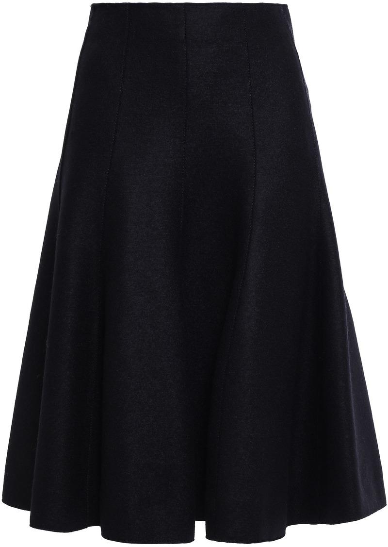 Nina Ricci Woman Flared Wool-felt Skirt Black