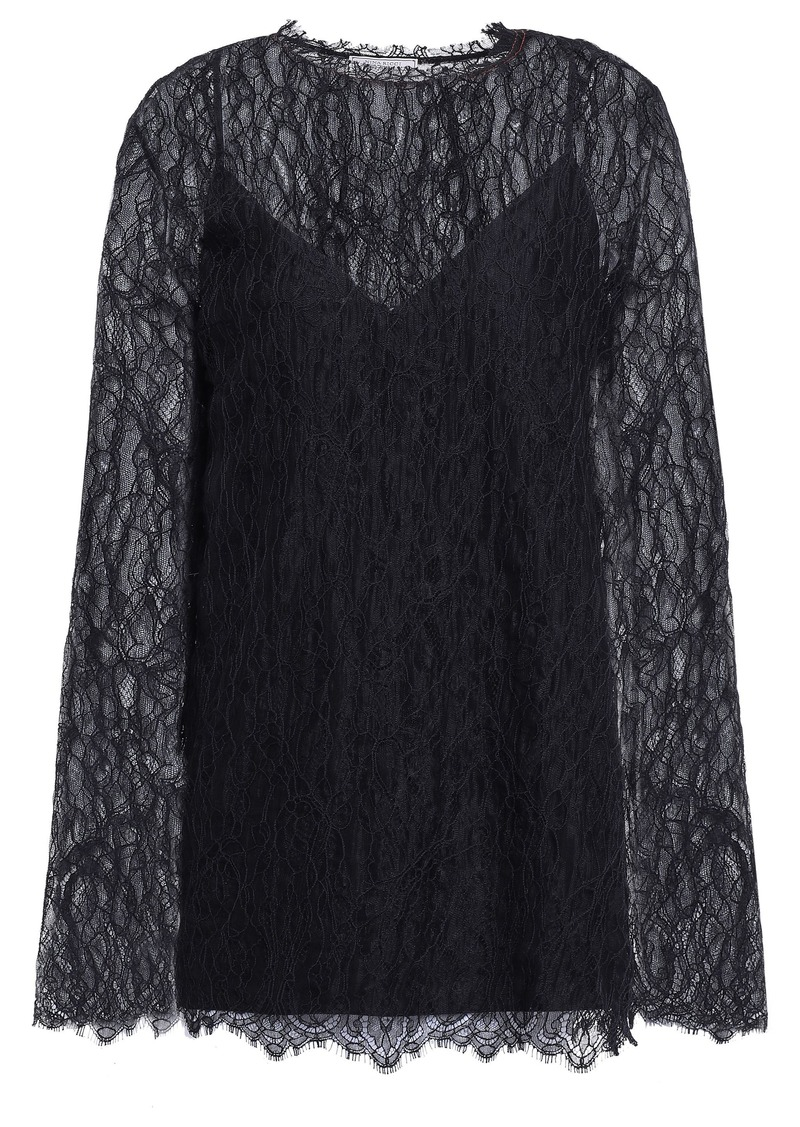Nina Ricci Woman Lace Top Black