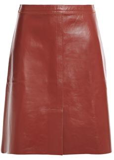 Nina Ricci Woman Leather Skirt Brown