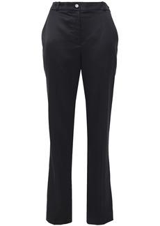 Nina Ricci Woman Satin-crepe Straight-leg Pants Black