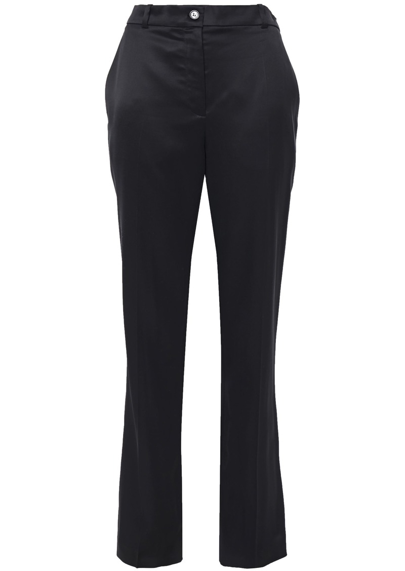 Nina Ricci Woman Satin-crepe Straight-leg Pants Black