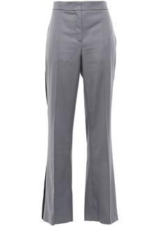 Nina Ricci Woman Striped Wool-twill Flared Pants Gray