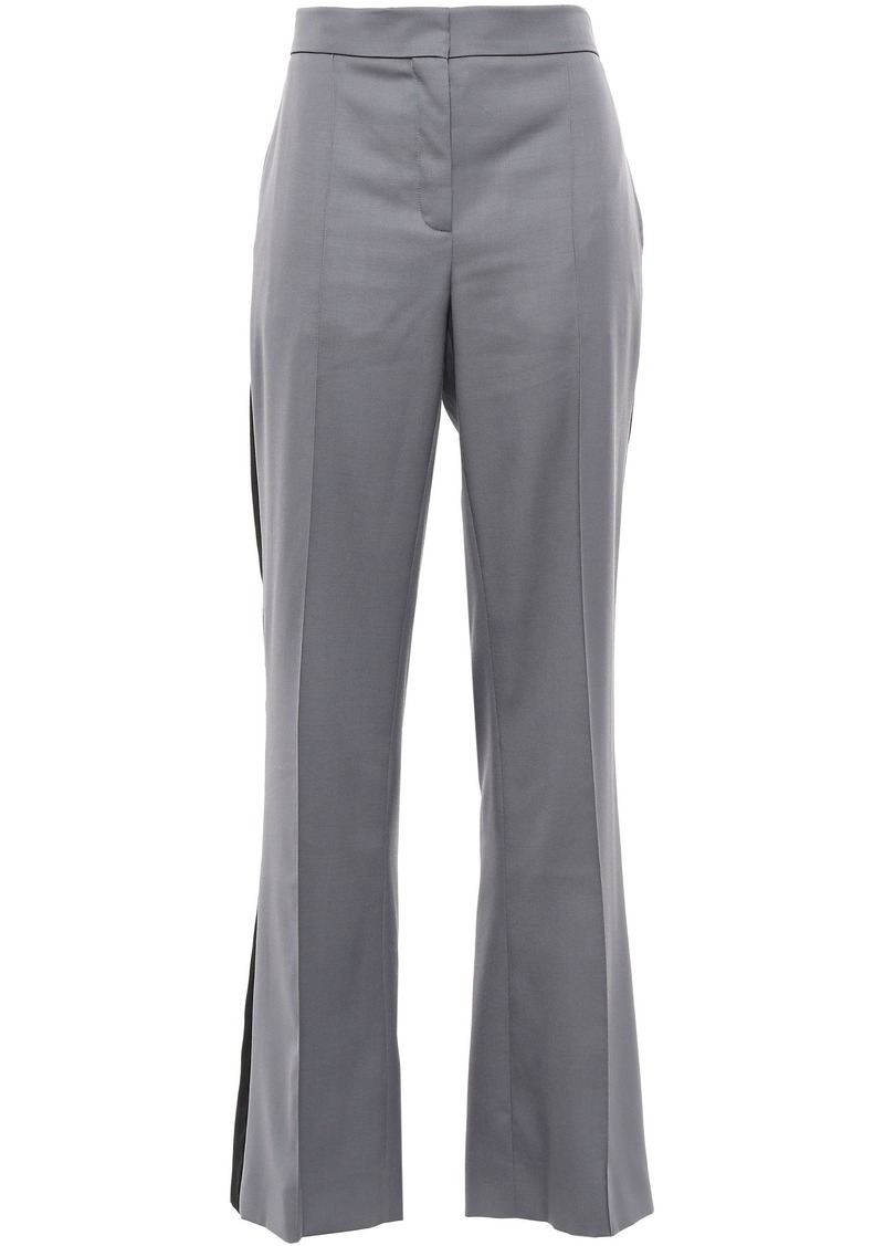 Nina Ricci Woman Striped Wool-twill Flared Pants Gray