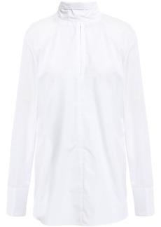 Nina Ricci Woman Tie-neck Cotton-poplin Shirt White