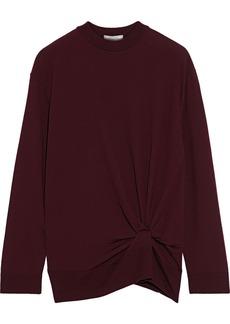 Nina Ricci Woman Twist-front Wool Sweater Burgundy
