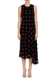 Nina Ricci Women's Devoré Velvet Asymmetric Dress