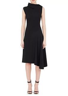 Nina Ricci Women's Drape-Neck Crepe Dress