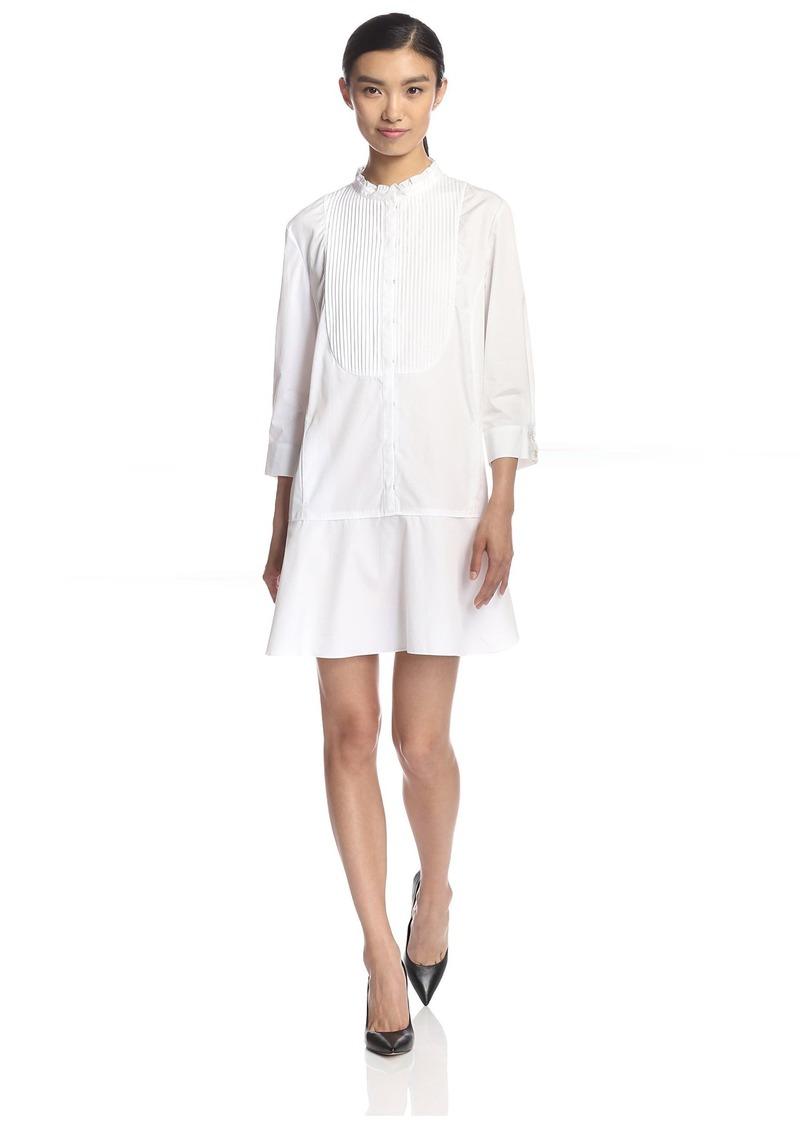 Nina Ricci Women's Dress with Pintucked Bib