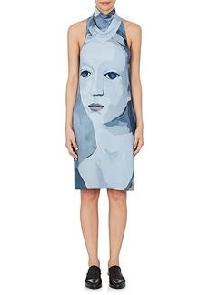 Nina Ricci Women's Face-Graphic Crepe Dress