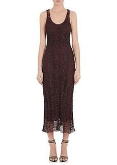 Nina Ricci Women's Grommet-Embellished Crochet Midi-Dress