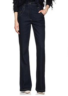 Nina Ricci Women's High-Waist Bell-Bottom Jeans