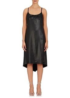 Nina Ricci Women's Lace-Inset Faux-Leather Slipdress