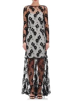 Nina Ricci Women's Lace Long-Sleeve Gown