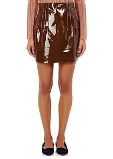 Nina Ricci Women's Pleated Patent Leather Miniskirt