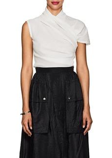 Nina Ricci Women's Ruched Cotton Gauze Blouse
