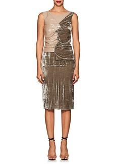 Nina Ricci Women's Ruched Mixed-Media Cocktail Dress
