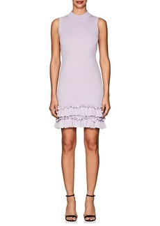 Nina Ricci Women's Ruffle-Trimmed Wool Sheath Dress