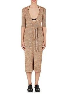 Nina Ricci Women's Sequined Rib-Knit Wool-Blend Maxi Dress