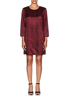 Nina Ricci Women's Snakeskin-Print Shift Dress