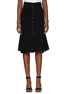 Nina Ricci Women's Snap-Detail Crepe Skirt