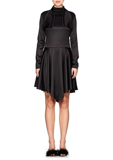 Nina Ricci Women's Stretch-Silk Tieneck Dress