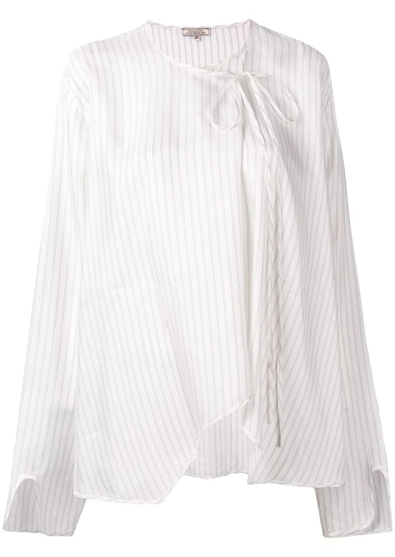 Nina Ricci off-centre tie blouse