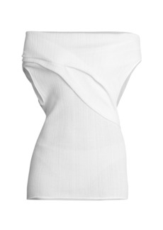 Nina Ricci Off-The-Shoulder Gathered Top