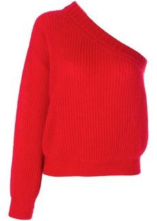 Nina Ricci one-shoulder ribbed-knit jumper