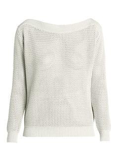 Nina Ricci Open-Weave Cotton & Cashmere Sweater
