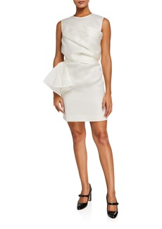 Nina Ricci Organza Crewneck Dress