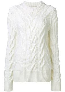 Nina Ricci oversized cable knit sweater