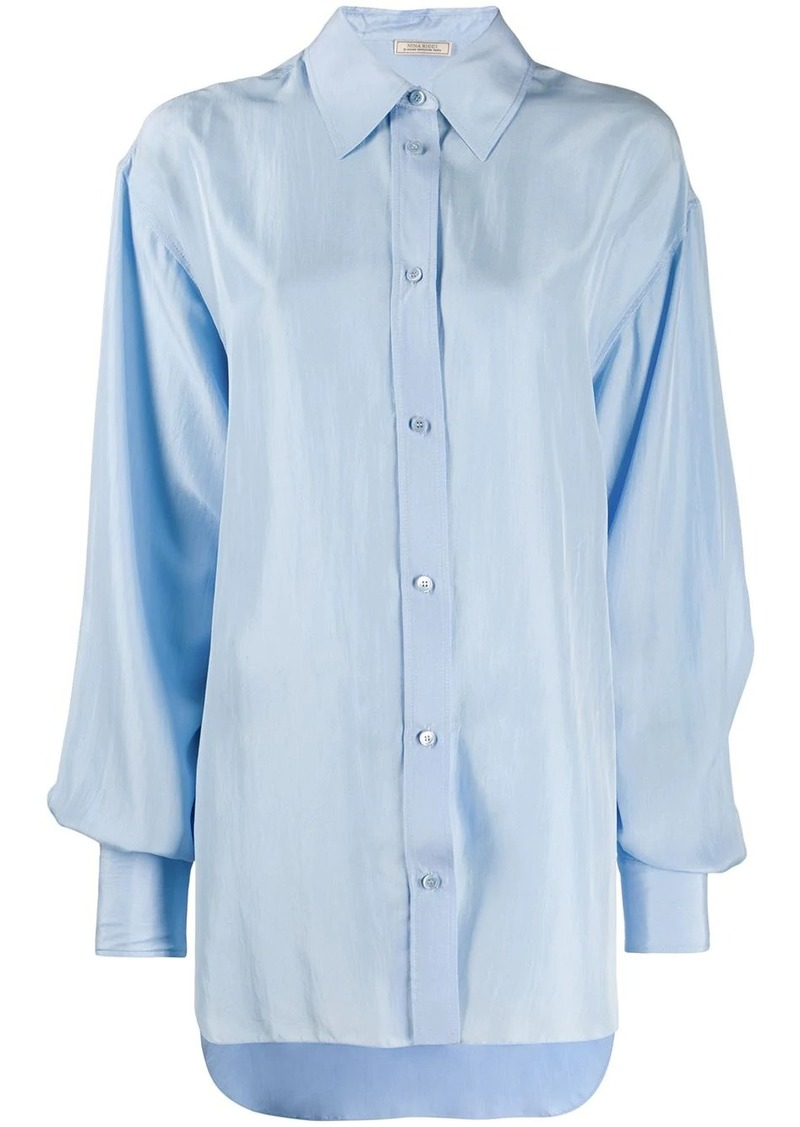 Nina Ricci oversized pointed collar shirt